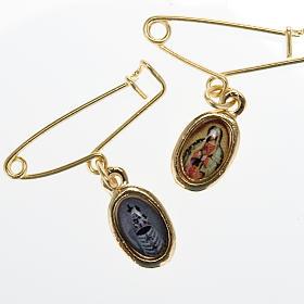 Medalla con prendedor de la Virgen de Guadalupe-Loreto s1