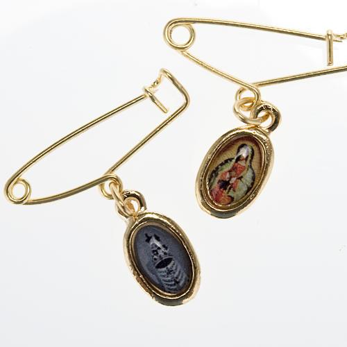 Medalla con prendedor de la Virgen de Guadalupe-Loreto 1