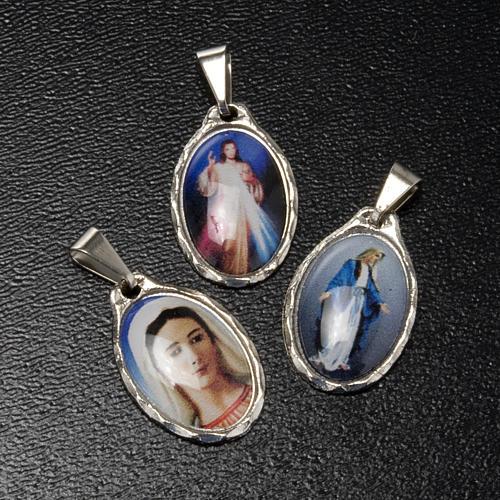 Medaglia argentata Misericordia - Madonna Pace - Grazie 2