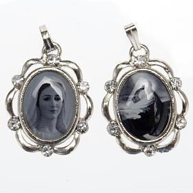 Medalla plateada con brillantes Reina de Paz, Huerto Getsemani s1