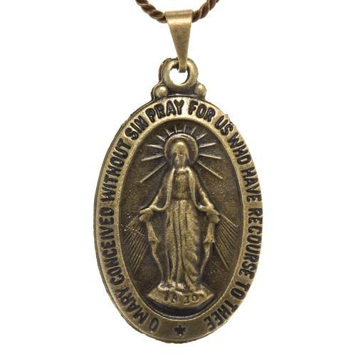 Médaille Miraculeuse pendentif couleur bronze 1