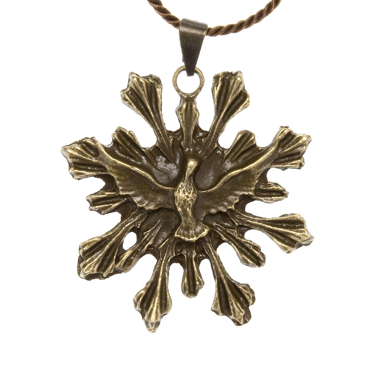 Medaglia Spirito Santo pendente color bronzo 4