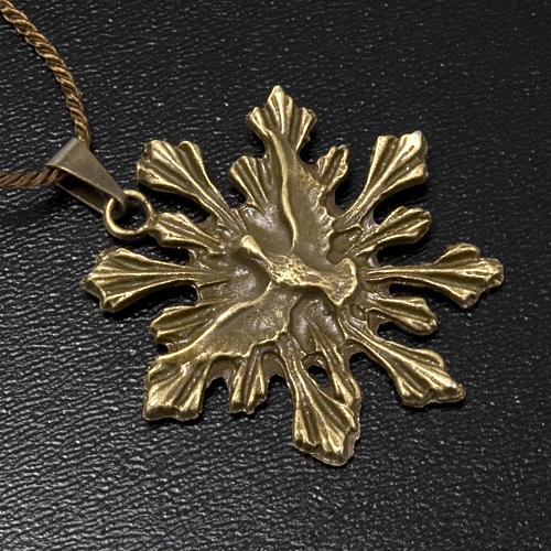 Medaglia Spirito Santo pendente color bronzo 2
