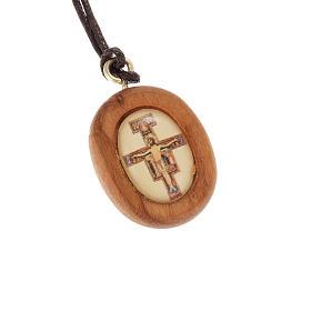 Medalla en olivo con la imagen de la Cruz de San Damiano s1