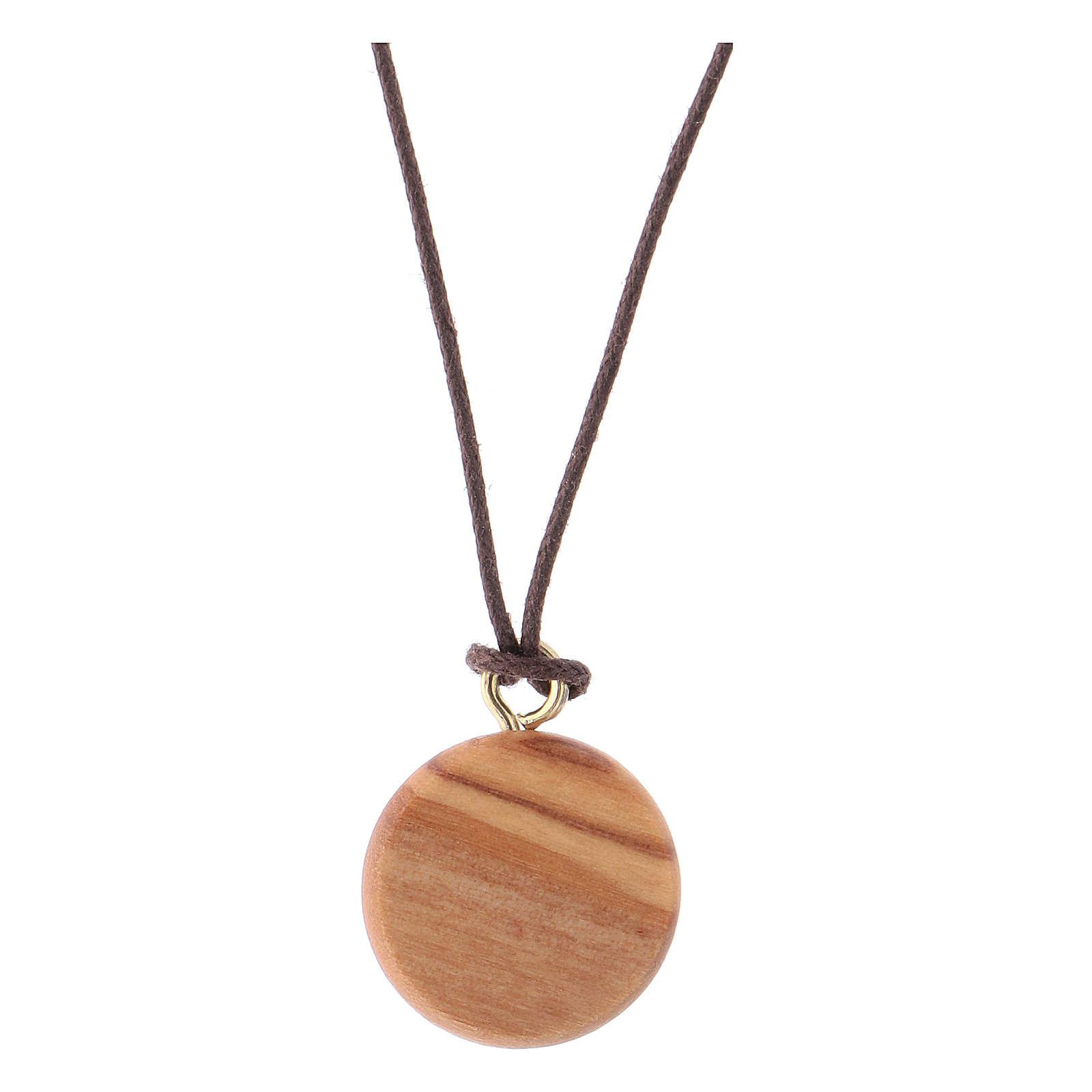 Medaglia legno olivo Gesù Divina Misericordia 4