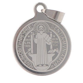 St Benedict medal in stainless steel 25mm
