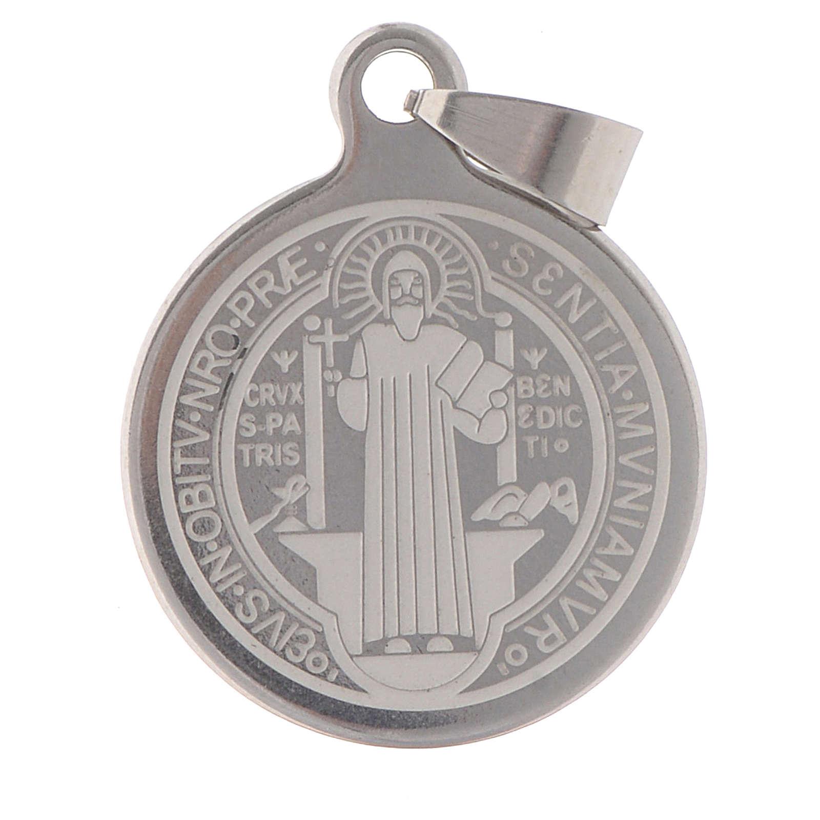 Medalla de San Benito en acero inox 25mm 4