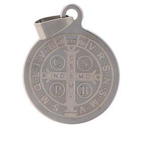 Medalla de San Benito en acero inox 25mm s2