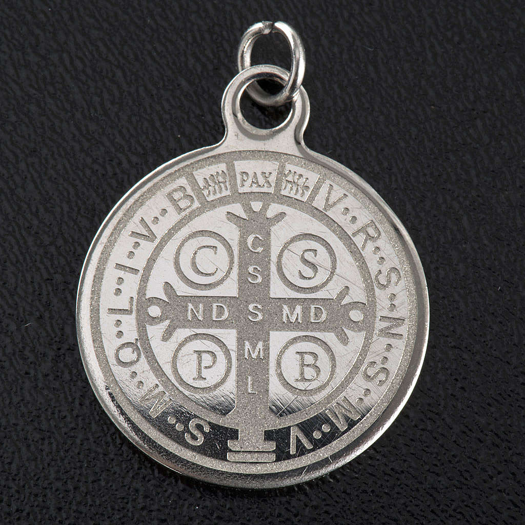 Saint Benedict medal in stainless steel 20mm 4