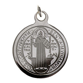 Saint Benedict medal in stainless steel 20mm s1