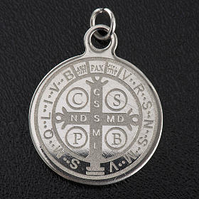 Saint Benedict medal in stainless steel 20mm s2