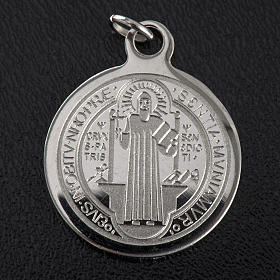 Saint Benedict medal in stainless steel 20mm s3