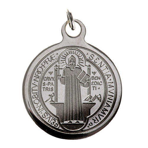 Saint Benedict medal in stainless steel 20mm 1