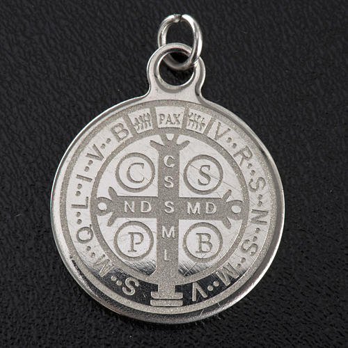 Saint Benedict medal in stainless steel 20mm 2