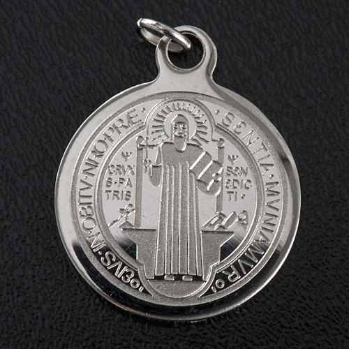 Saint Benedict medal in stainless steel 20mm 3