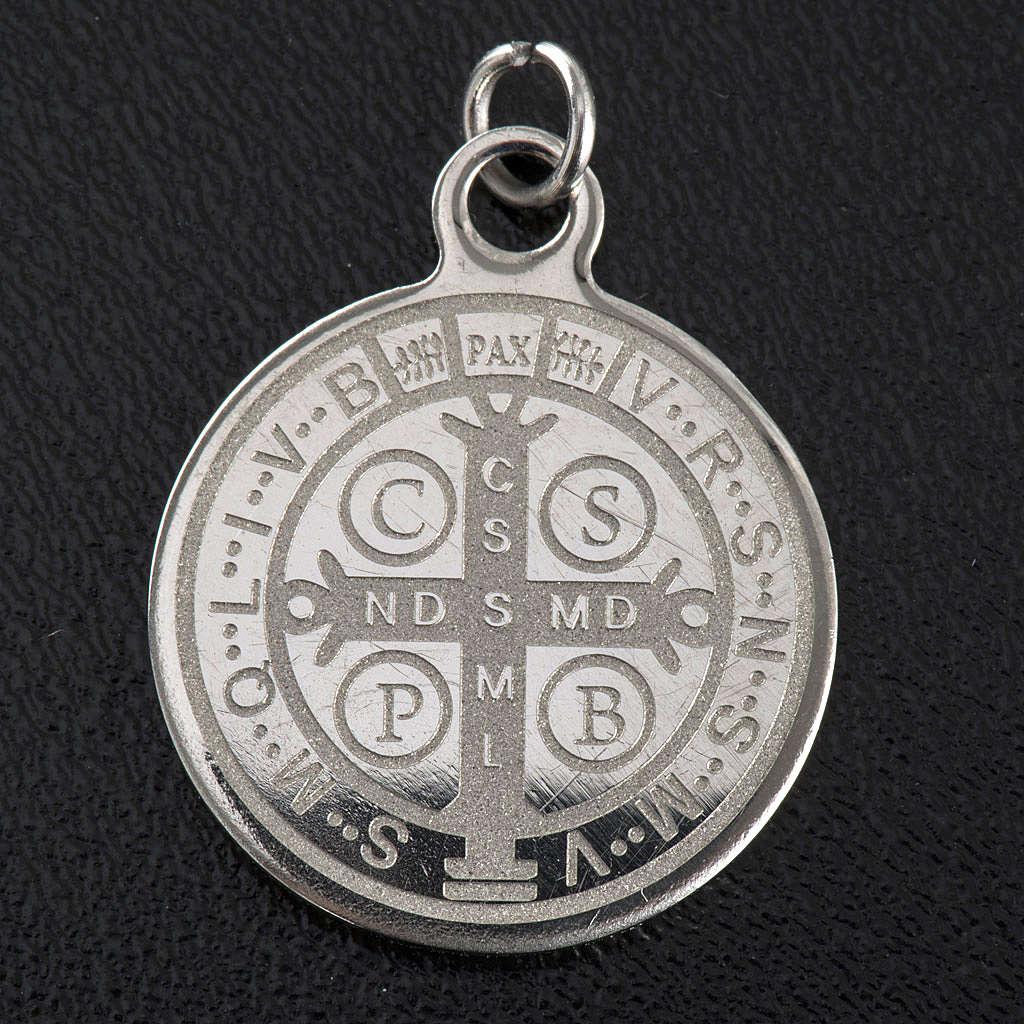 Medalla de San Benito en acero inox 20mm 4