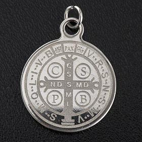 Medalla de San Benito en acero inox 20mm s2