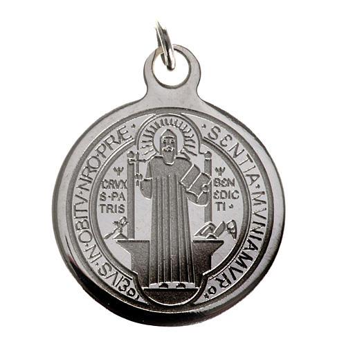 Medalla de San Benito en acero inox 20mm 1
