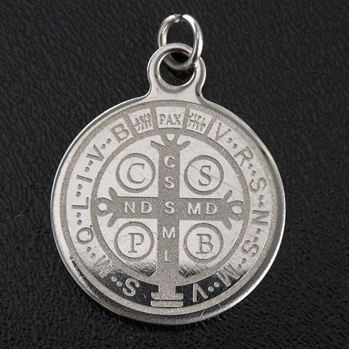 Medalla de San Benito en acero inox 20mm 2