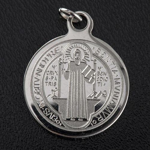 Medalla de San Benito en acero inox 20mm 3