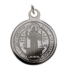 Medaglia San Benedetto acciaio inox 20mm s1
