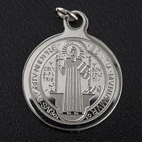 Medaglia San Benedetto acciaio inox 20mm s3