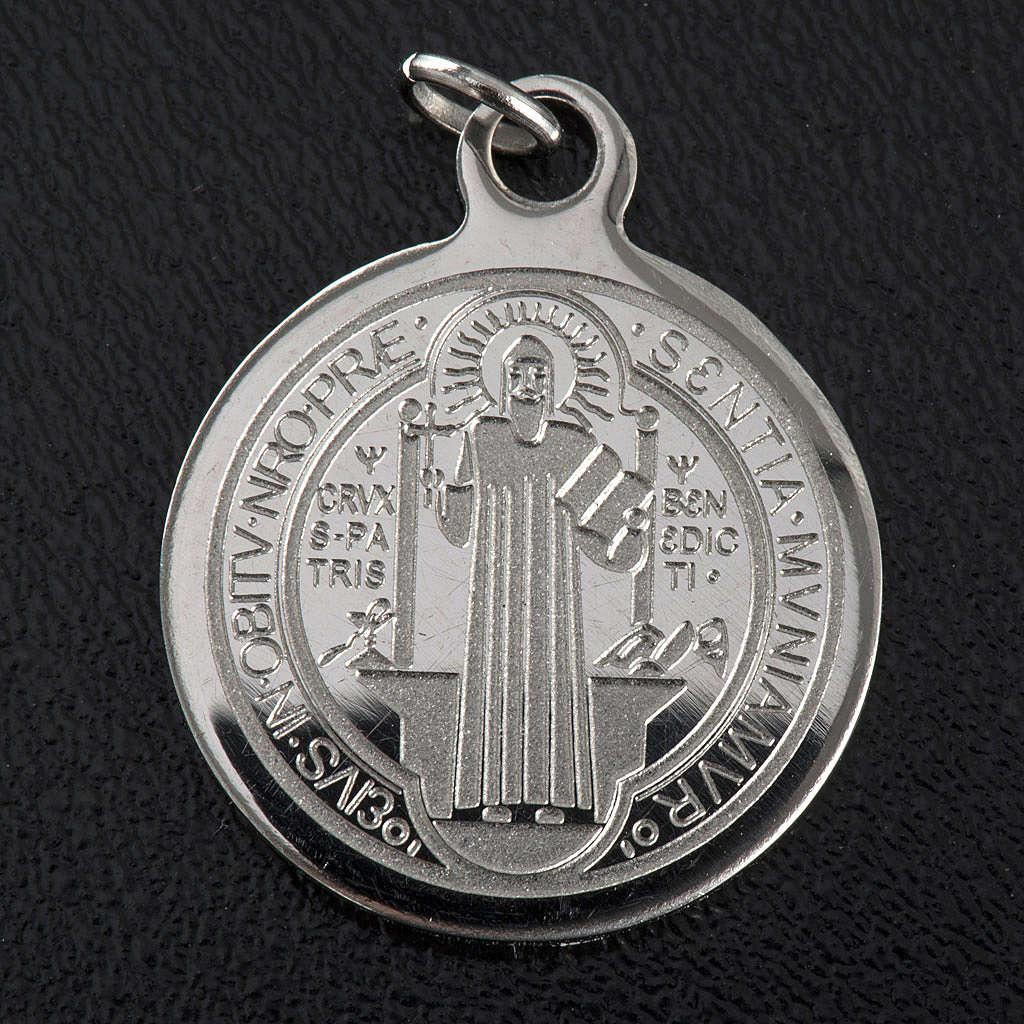 Medalik święty Benedykt stal nierdzewna 20mm 4