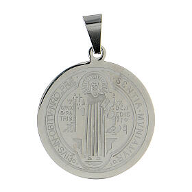 Saint Benedict medal in stainless steel 30mm
