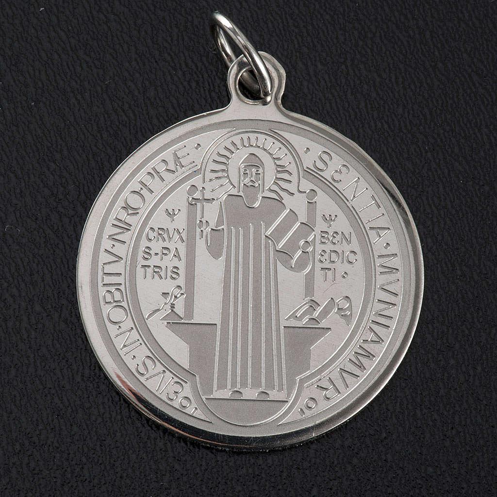 Medalla de San Benito en acero inox 30mm 4