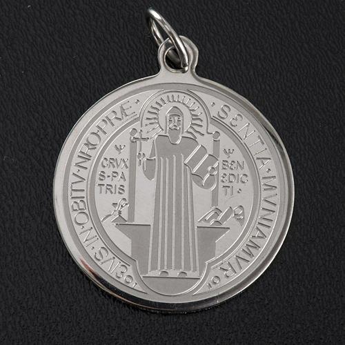 Medalla de San Benito en acero inox 30mm 2