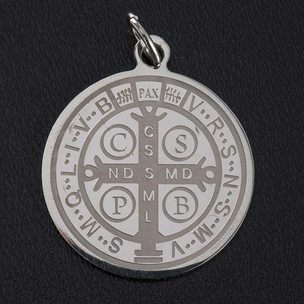 Médaille Saint Benoit acier inoxydable 30mm 4