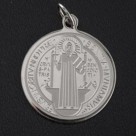 Médaille Saint Benoit acier inoxydable 30mm s4