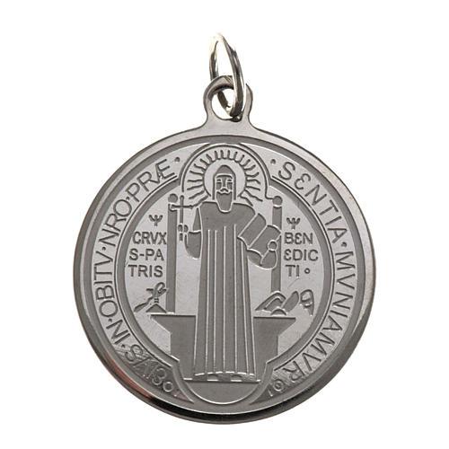 Medaglia San Benedetto acciaio inox 30mm 1