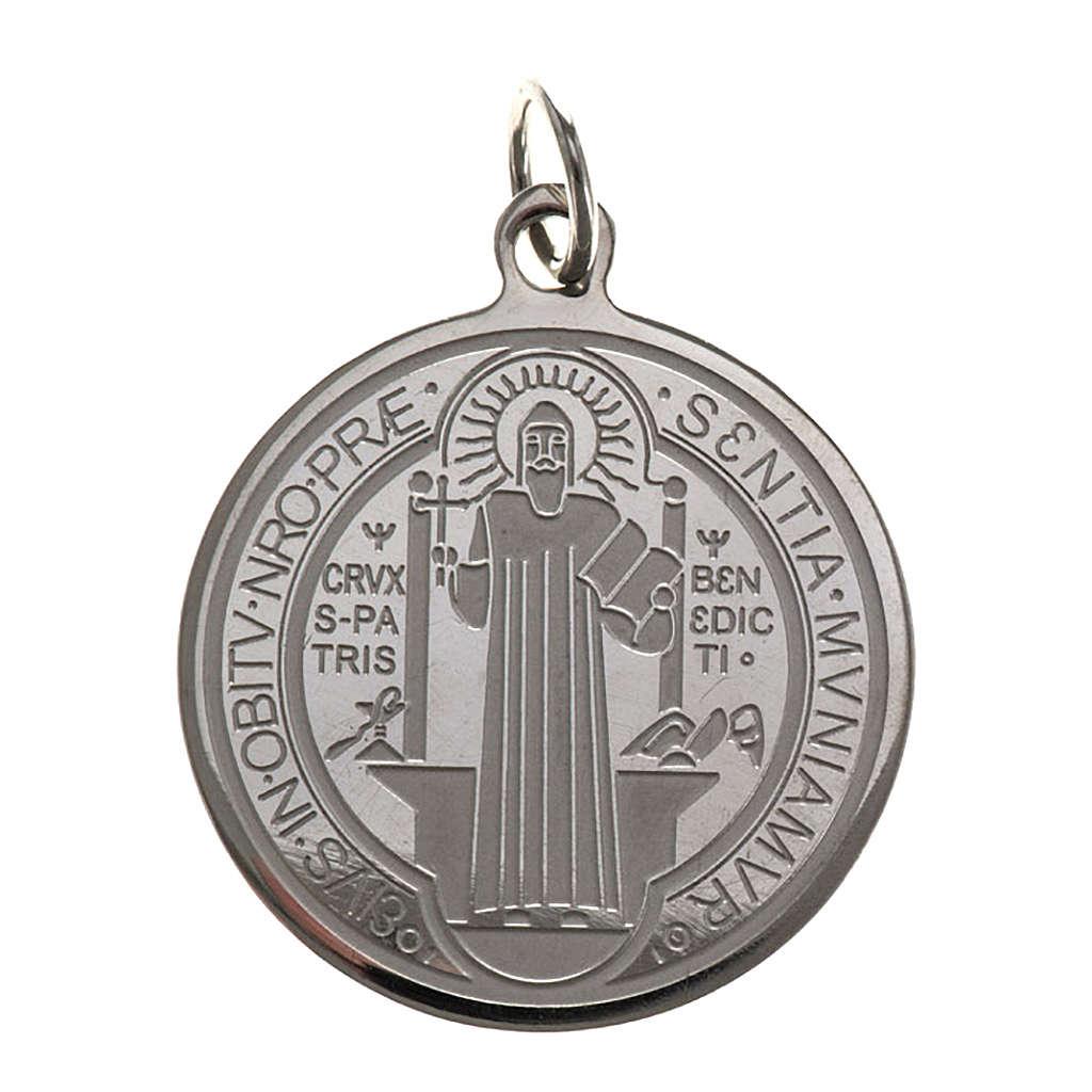 Medalha São Bento aço inox 30 mm 4