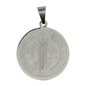 Medalha São Bento aço inox 30 mm