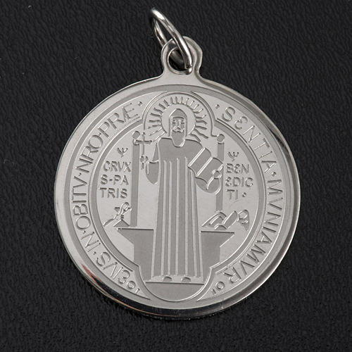 Saint Benedict medal in stainless steel 30mm 2