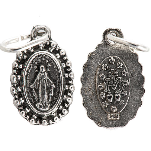 Médaille Vierge Miraculeuse métal 14mm 1