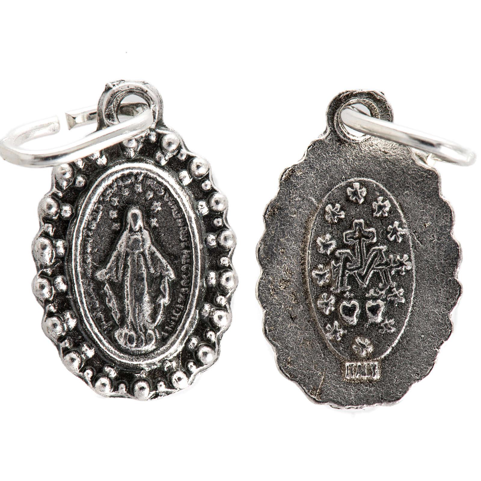 Medaglia Madonna Miracolosa metallo 14 mm 4