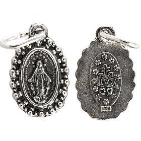 Medaglia Madonna Miracolosa metallo 14 mm s1