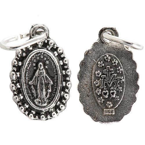 Medaglia Madonna Miracolosa metallo 14 mm 1