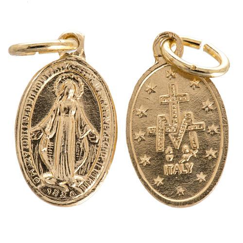 Miraculous Medal in gilded steel 15mm 1