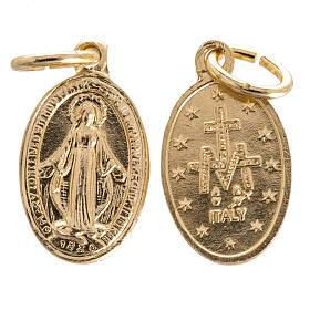 Medaglia Madonna Miracolosa alluminio dorato 15 mm s1