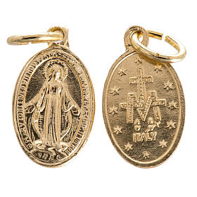 Miraculous Medal in gilded steel 15mm s1