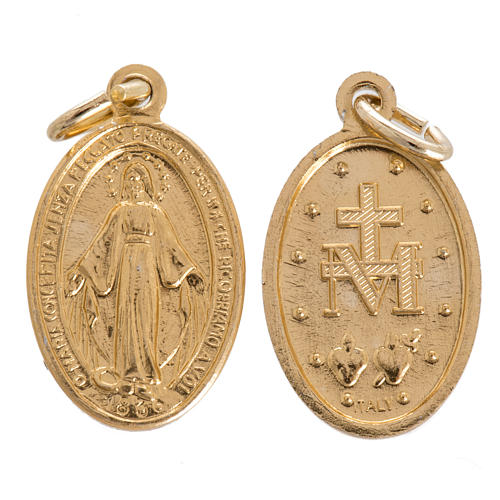 Miraculous medal in steel 18mm 1