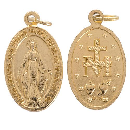Miraculous Madonna, medal in steel 16mm 1