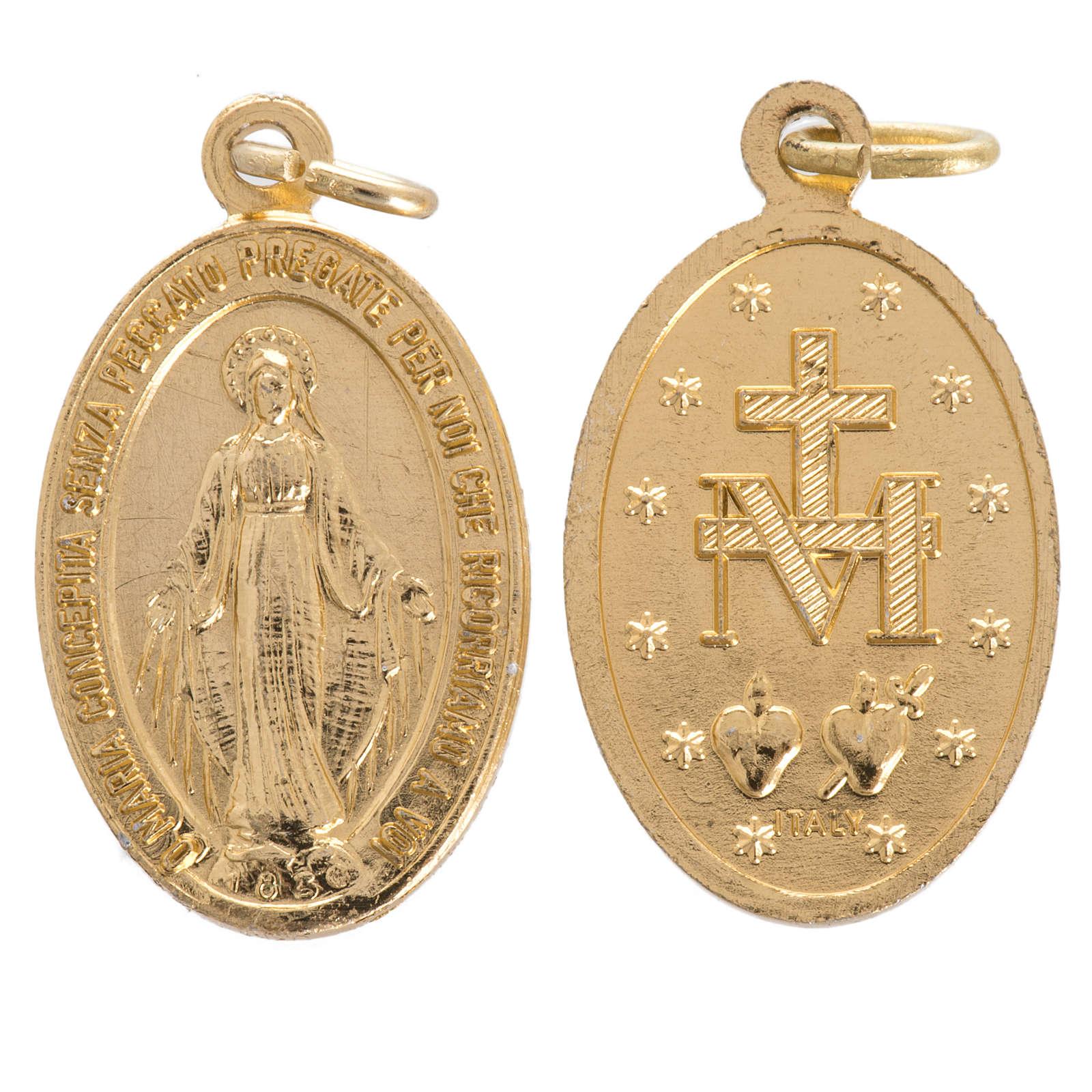 Medaglia Madonna Miracolosa alluminio 16 mm 4