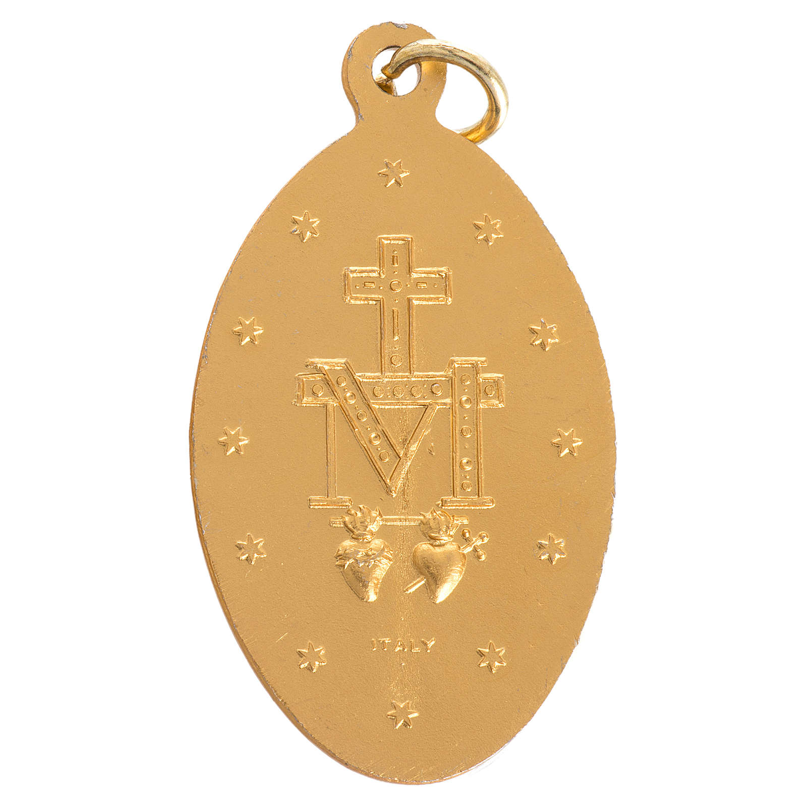 Miraculous Medal in gilded steel 5mm 4