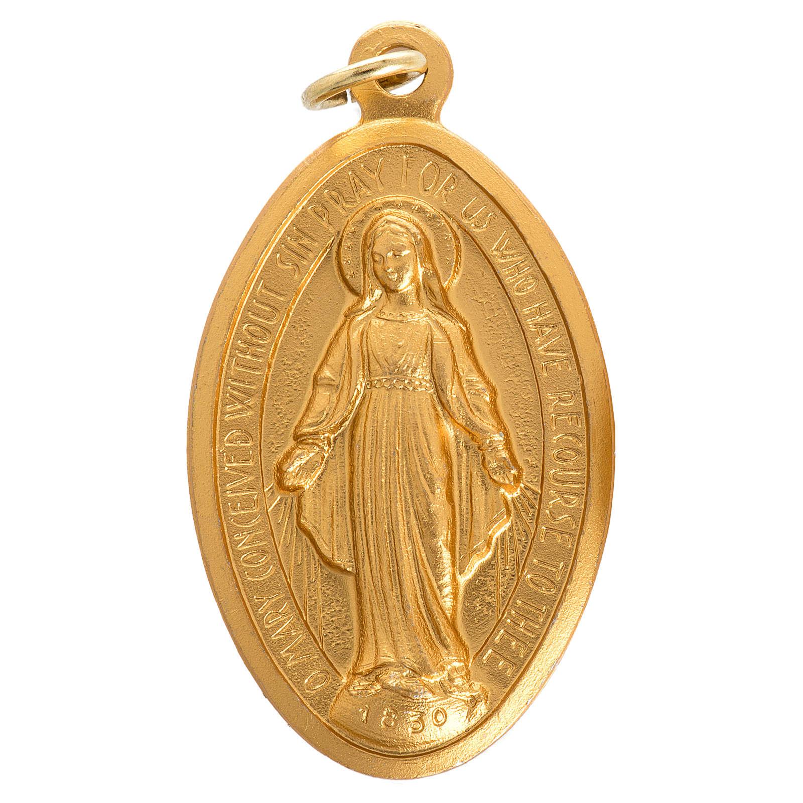 Medalla de la Virgen Milagrosa aluminio 5cm 4