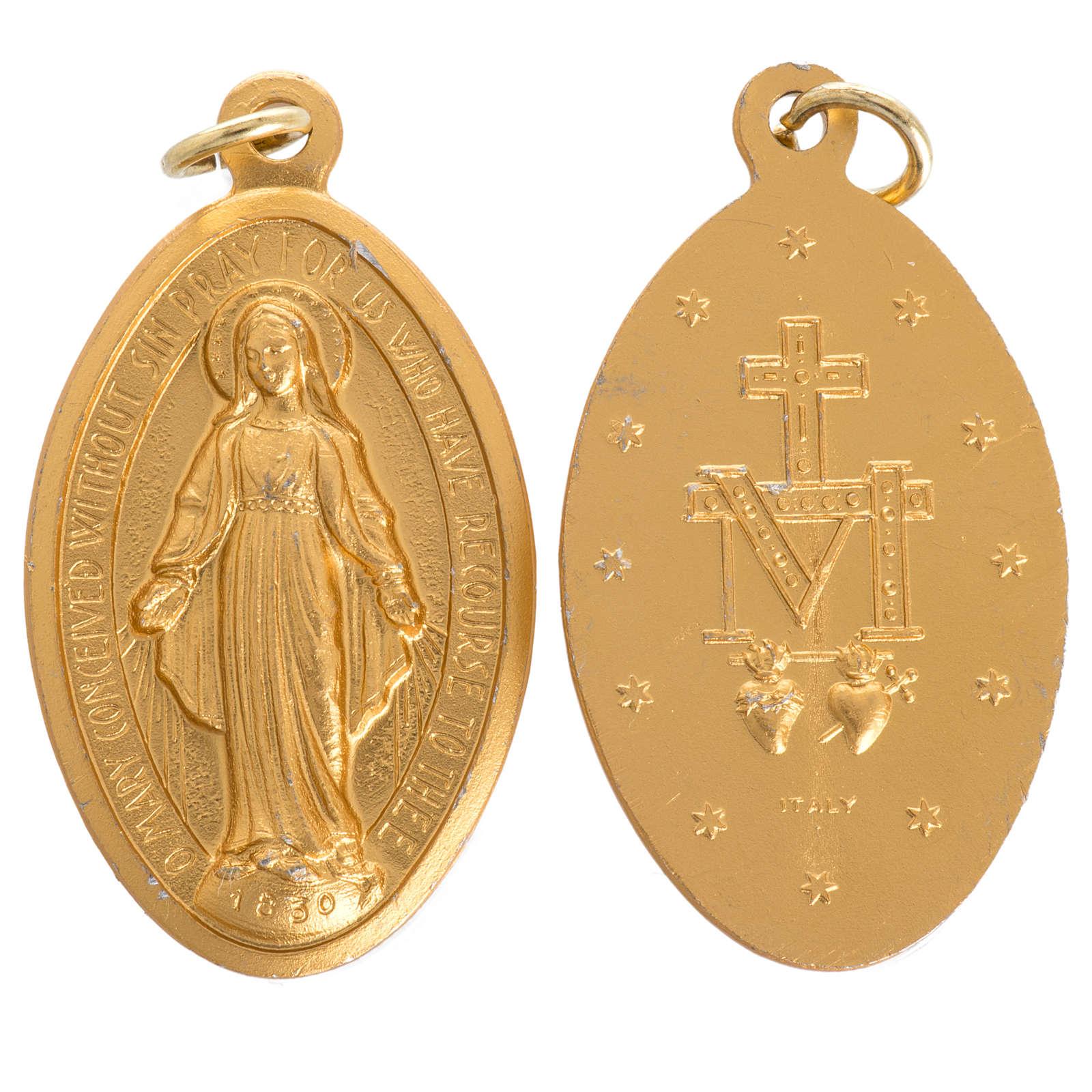 Médaille Miraculeuse aluminium doré 5cm 4