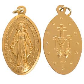 Médaille Miraculeuse aluminium doré 5cm s1
